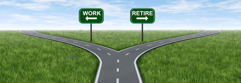 Which road can you take at this stage of retirement planning: work? or retire?