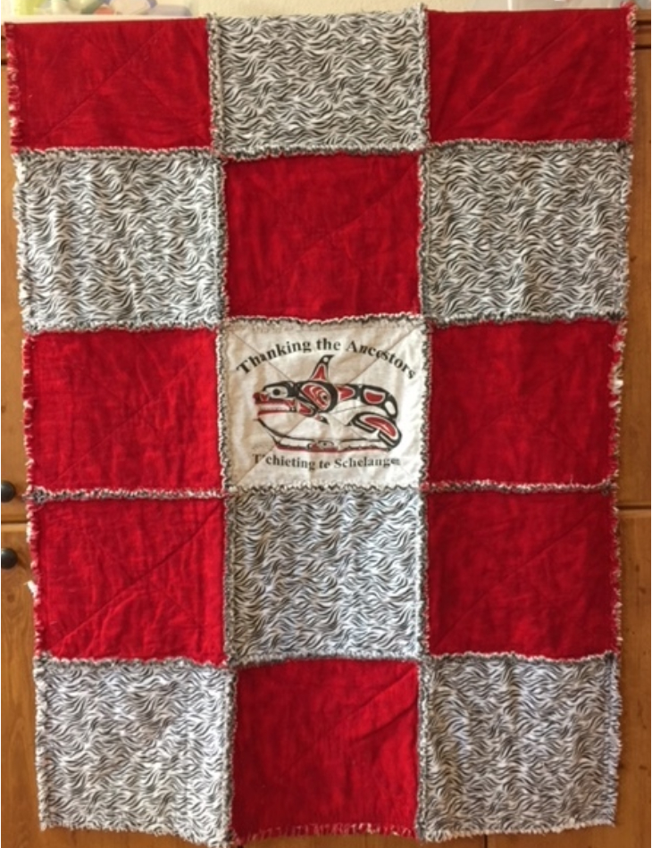Blanket made by the Grandmothers Sewing Group