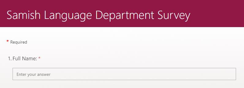 language department survey preview