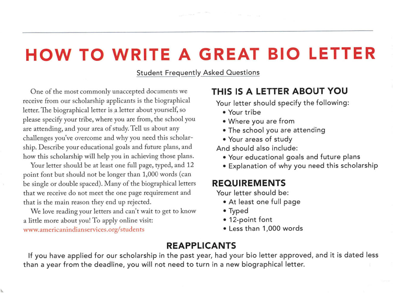 20190913b How to Write a Great Bio Letter
