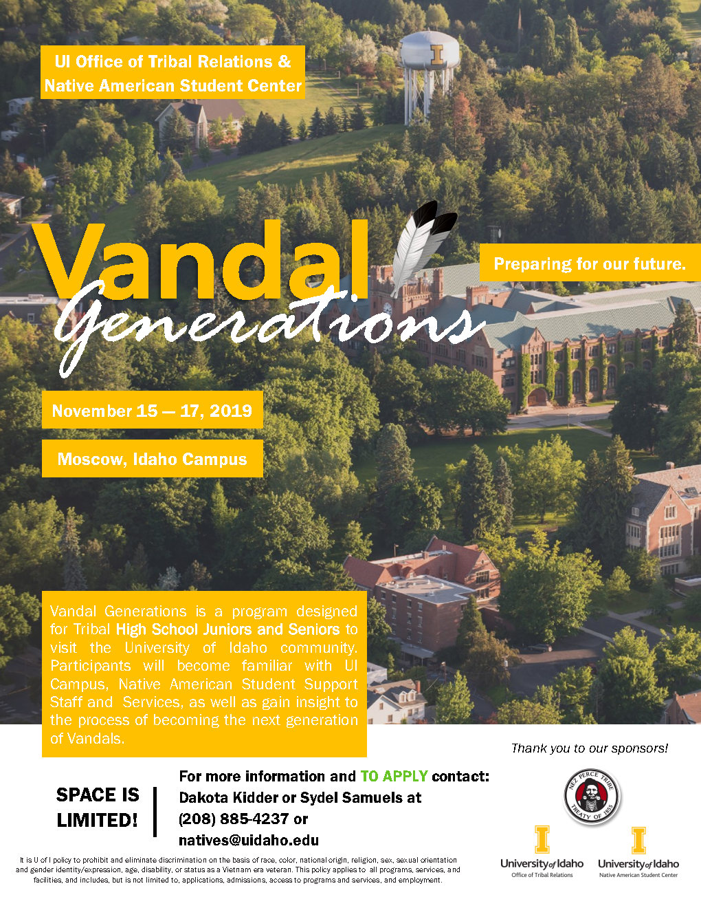 For High School Students: U of Idaho Vandal Generations Flyer