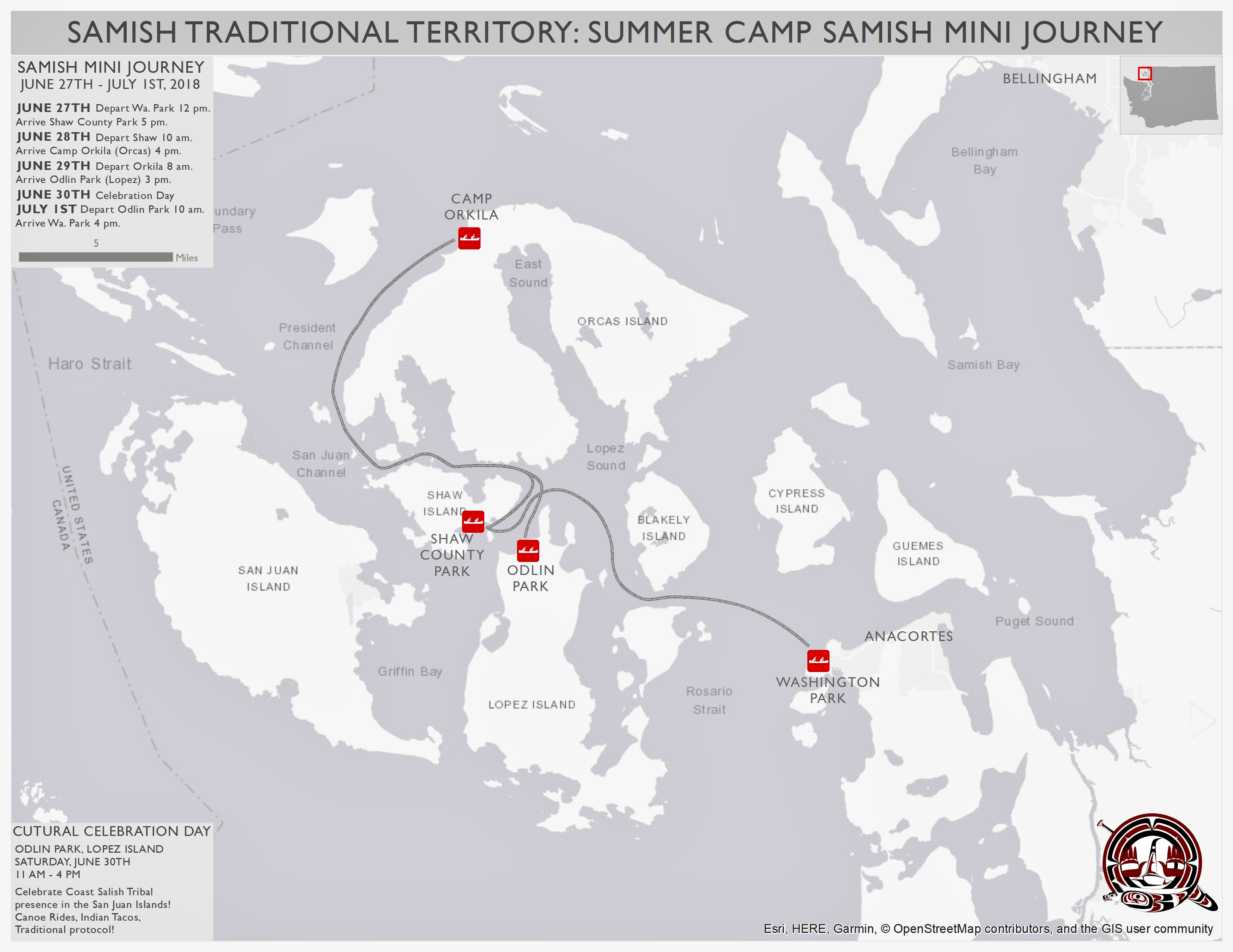 Summer Camp Mini-Journey Route